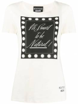 Boutique Moschino футболка It's Smart To Be Natural J12035840