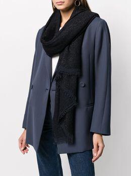 Faliero Sarti блестящий шарф с бахромой 0301
