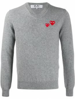 Comme Des Garcons Play свитер с нашивками AZN070