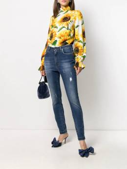 Dolce & Gabbana - блузка с принтом и высоким воротником W9TFSAYW955569590000