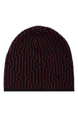 Темно-синяя шапка с контрастной отделкой Emporio Armani 2706154133