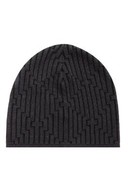 Серая шапка с контрастной отделкой Emporio Armani 2706154137