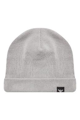 Базовая серая шапка-бини Emporio Armani 2706154124