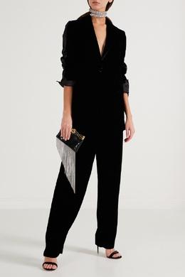 Бархатные брюки с манжетами Emporio Armani 2706154214