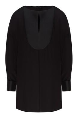 Черная блуза из шелка Emporio Armani 2706154182
