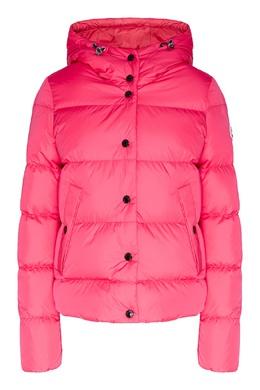 Стеганая куртка с капюшоном цвета фуксии Moncler 34156772