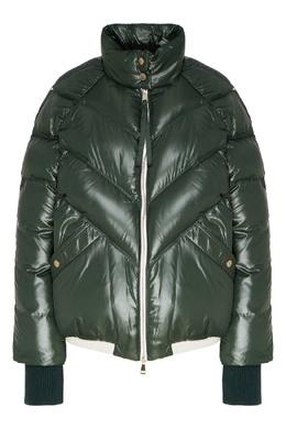 Зеленая куртка-пуховик Yalou Moncler 1952 x Valextra 34156773
