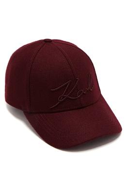 Пурпурная бейсболка с логотипом Karl Lagerfeld 682157078