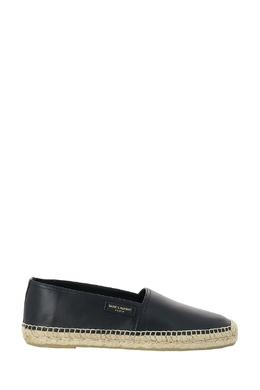 Черные кожаные эспадрильи Saint Laurent 1531157076