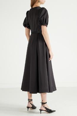 Черное платье с пышными рукавами Self-portrait 532157104