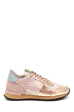 Розовые кроссовки Rockstud Valentino 210157145