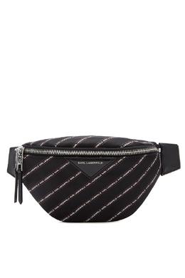 Черная поясная сумка в полоску Karl Lagerfeld 682157141