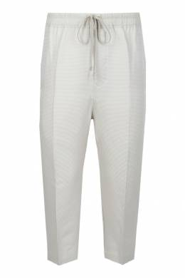 Укороченные серые брюки Rick Owens 43157097