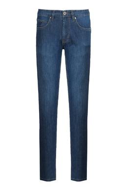 Прямые синие джинсы с медной пуговицей Strellson 585156998