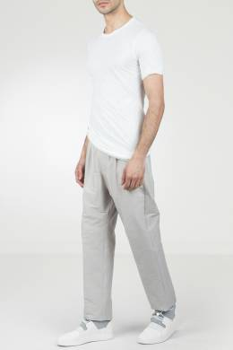 Белая футболка с драпировкой Rick Owens 43157089