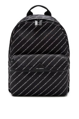 Черный рюкзак с отделкой в полоску Karl Lagerfeld 682157084