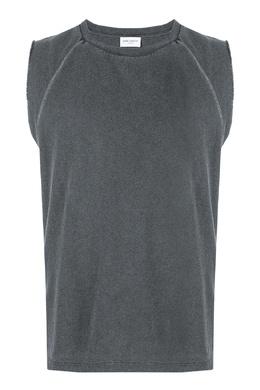Серая футболка без рукавов Saint Laurent 1531157043