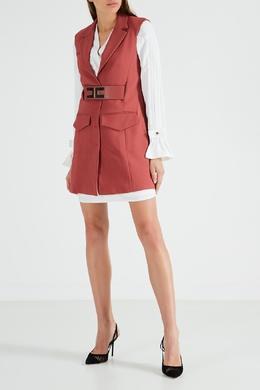 Коричневое платье-жилет Elisabetta Franchi 1732156133