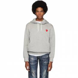 Comme Des Garcons Play Grey Heart Patch Hoodie 192246M20200502GB