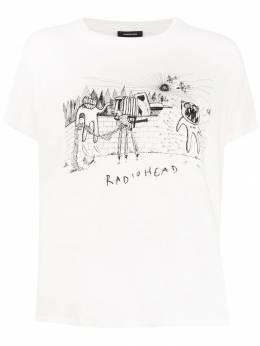 R13 футболка Radiohead с принтом R13W397704