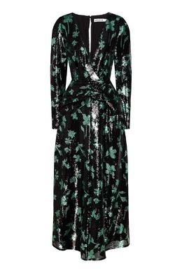 Платье с пайетками и цветочным мотивом Self-portrait 532156944