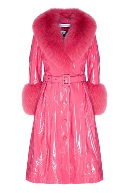 Розовая дубленка с виниловым эффектом Saks Potts 3051156953