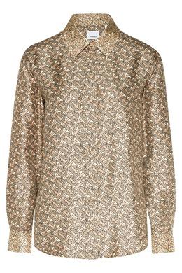 Шелковая блуза с монограммами Burberry 10157200