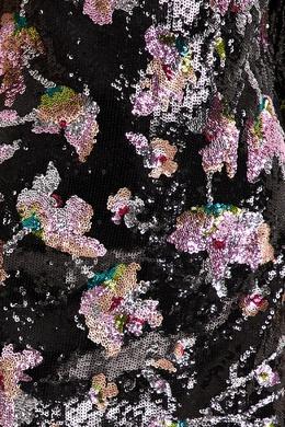 Асимметричное платье мини с пайетками Midnight Bloom Self-portrait 532156943