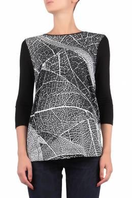 Черная блуза с рисунком Escada Sport 2819157205