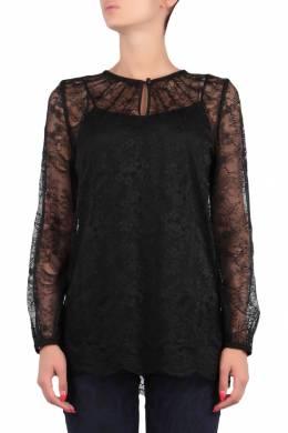 Черная двуслойная блуза Escada Sport 2819157216