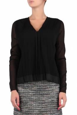 Черная комбинированная блуза Escada Sport 2819157229