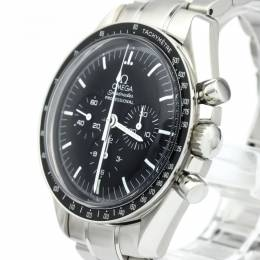 Omega Black Stainless Steel Speedmaster Professional Moonwatch Men's Wristwatch 42MM 127218