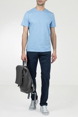 Светло-голубая футболка с круглой горловиной Strellson 585157836