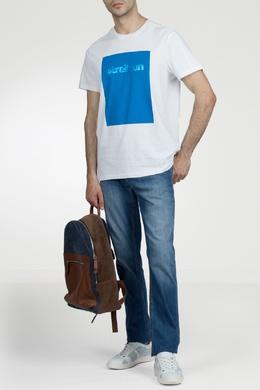 Белая футболка с крупным принтом Strellson 585157814