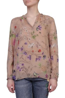 Бежевая блуза с ярким принтом Escada Sport 2819157657