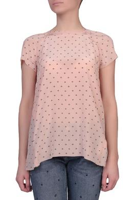 Розовая блуза с черным принтом Escada Sport 2819157656