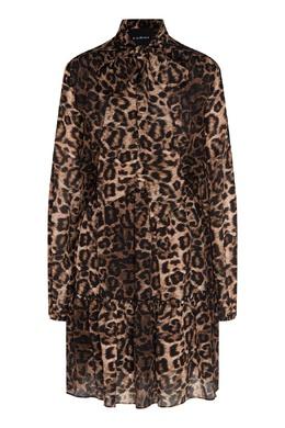 Платье с леопардовым принтом John Richmond 2678157381
