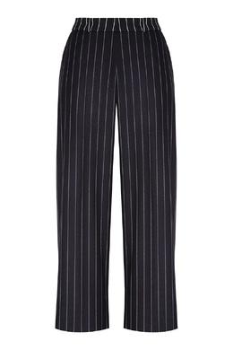 Широкие черные брюки в полоску Hugo Boss 622158028