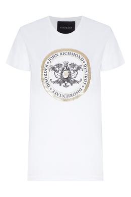 Хлопковая футболка с логотипом John Richmond 2678157379