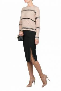 Черная юбка-карандаш с фигурными вытачками Patrizia Pepe 1748158327