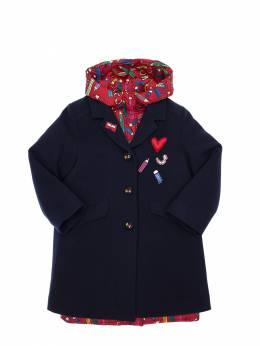 Пальто Из Шерсти И Нейлона Dolce&Gabbana 70IIKH109-UzkwMDA1
