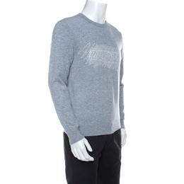 Z Zegna Grey Cashmere Blend Crew Neck Sweater M