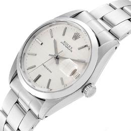 Rolex Silver Stainless Steel Oyster Date 6694 Men's Wristwatch 35 MM 233582