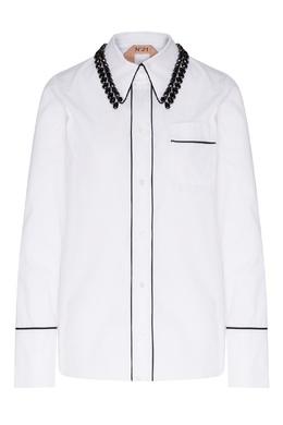 Рубашка с отделкой кристаллами No. 21 35157706