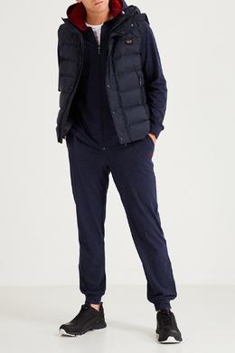 Темно-синие брюки с логотипом Boss 1166158147