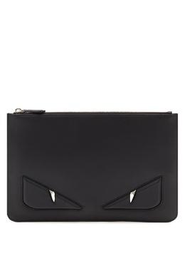Клатч черного цвета с глазами Bag Bugs Fendi 1632157830
