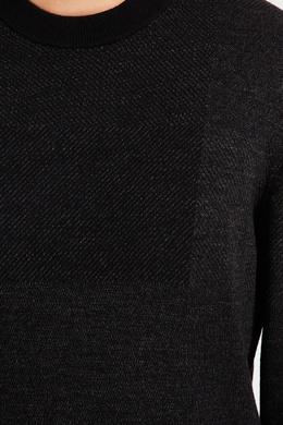 Черный текстурированный джемпер Boss 1166158174