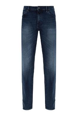 Синие джинсы с потертостями Boss 1166158078