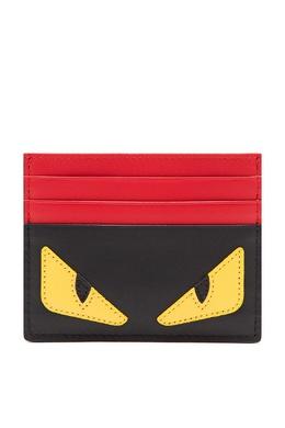 Красно-черный картхолдер Bag Bugs Fendi 1632157890