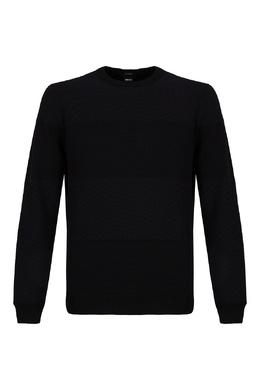 Черный джемпер с полосками Boss 1166158188